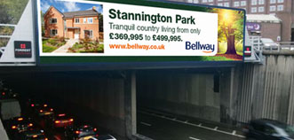 Bellway name up in lights!