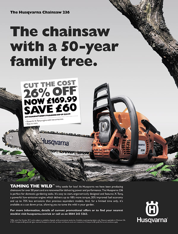 The chainsaw 50-year family tree poster