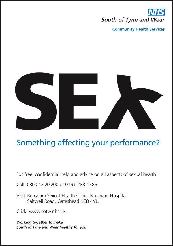 Sexual Health service poster